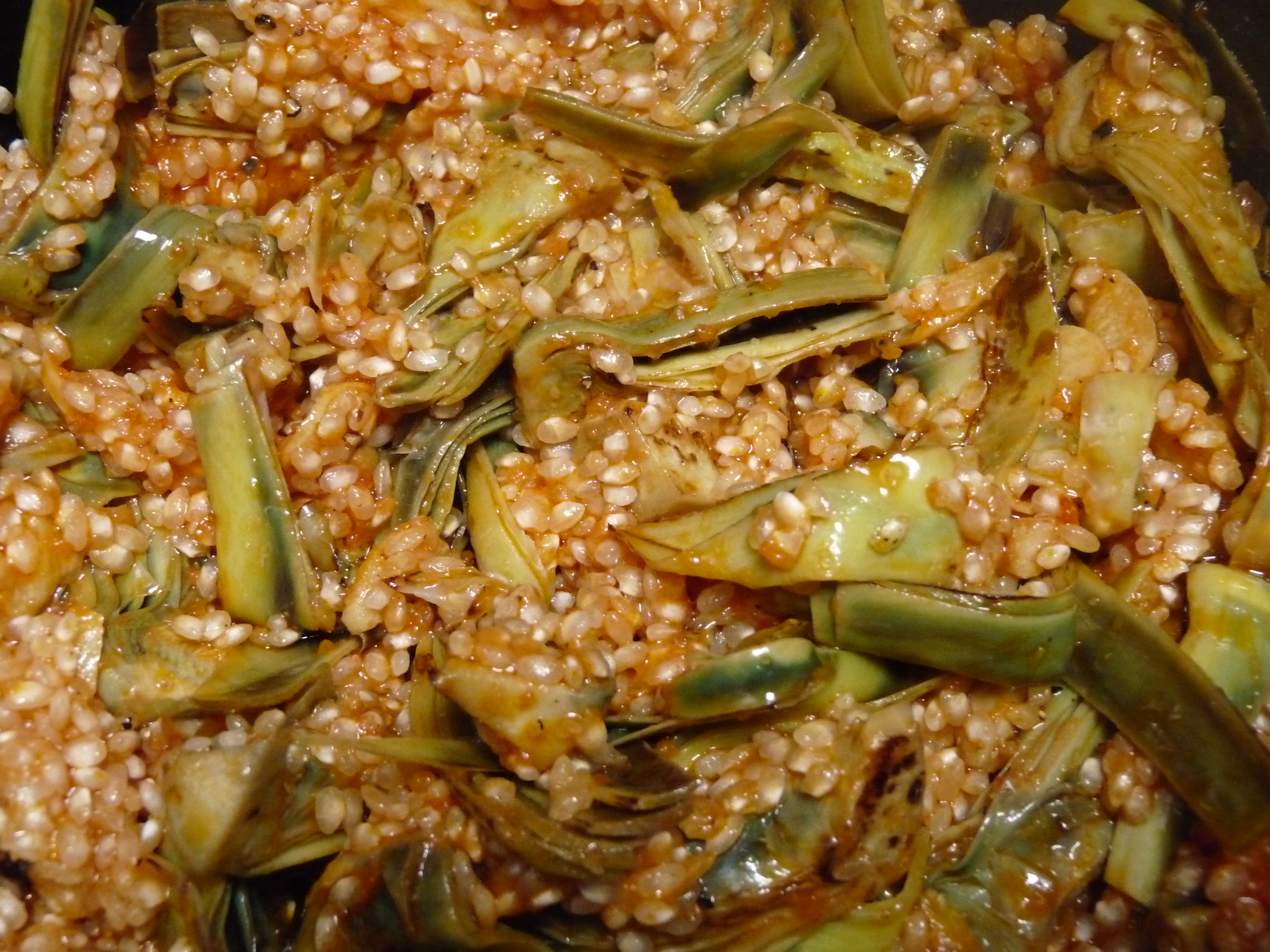 Arroz meloso de alcachofas y almejas internauta sin pauta - Arroz con alcachofas y jamon ...
