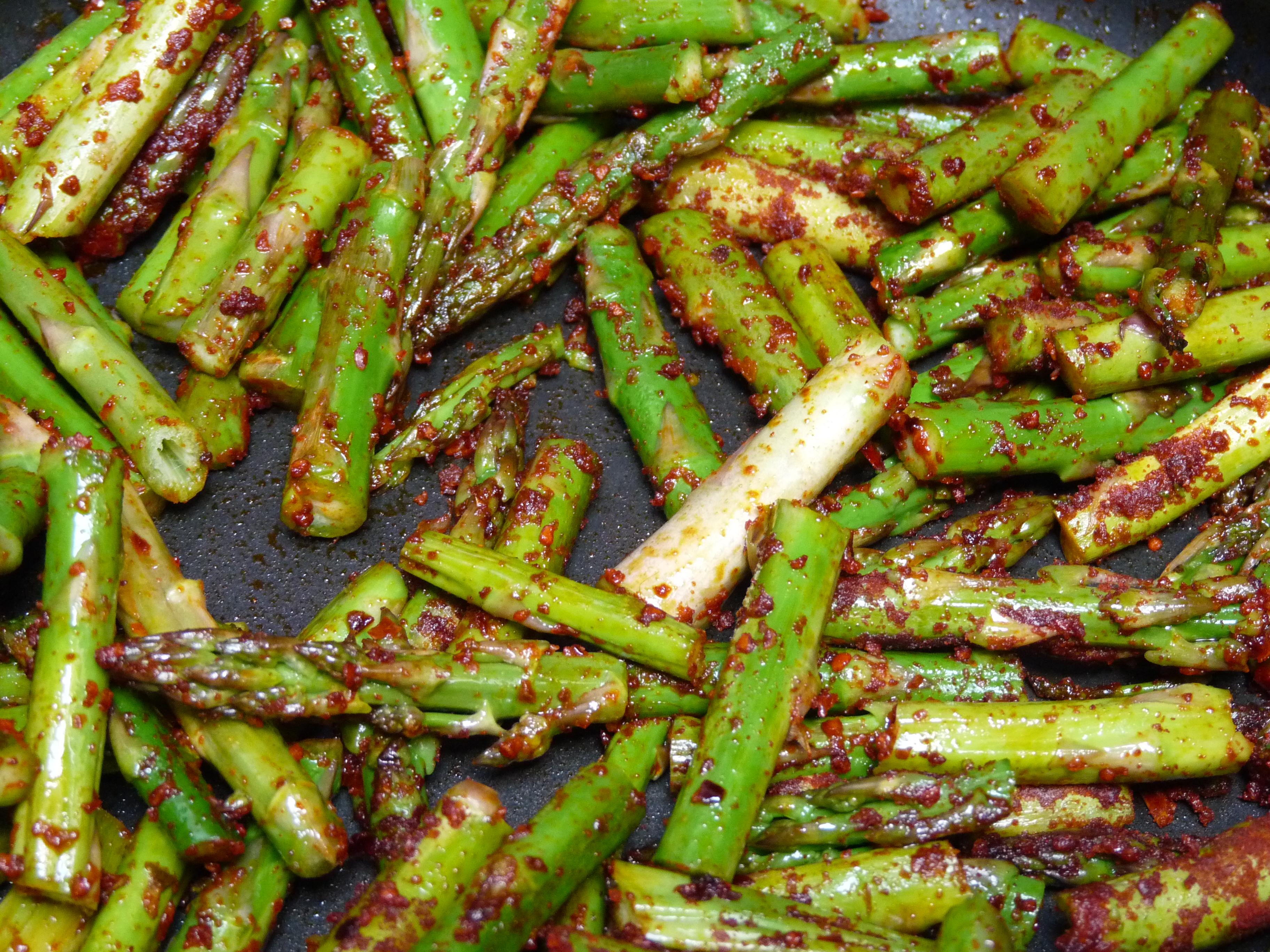 Guiso de arroz con esp rragos trigueros internauta sin pauta - Como preparar las judias verdes ...