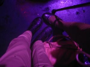 Disorde, mi zapato ortopedico y mi baston de pinkis